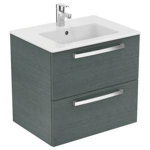 Ideal Standard Tempo SET- Umývadlo 60cm + skrinka, 2 zásuvky, dub svetlo-šedá K2979SG vyobraziť