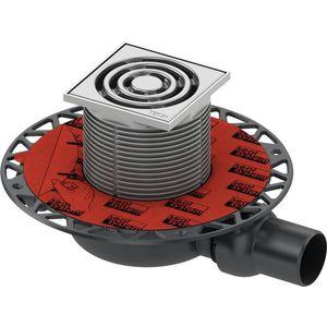 TECEdrainpoint S- podlahová vpusť znížená s univerzálnou prírubou a nerezovou mriežkou, 3601100 vyobraziť
