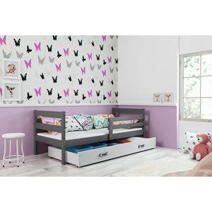BMS Detská jednolôžková posteľ ERYK | sivá Farba: Sivá / biela, Rozmer.: 190 x 80 cm vyobraziť
