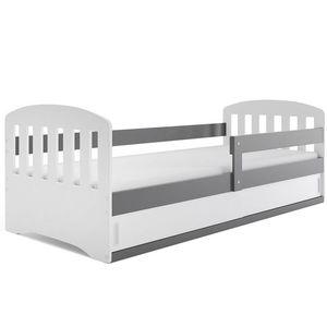 BMS Detská posteľ Classic 1 Farba: Sivá, Rozmer.: 160 x 80 cm vyobraziť