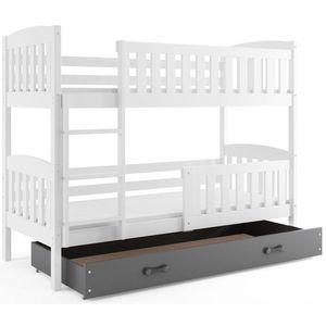 BMS Detská poschodová posteľ KUBUŠ / BIELA Farba: biela / sivá, Rozmer.: 190 x 80 cm vyobraziť