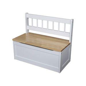 Detská lavica biela/lak vyobraziť