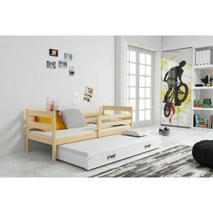 BMS Detská posteľ s prístelkou ERYK 2 | borovica Farba: Borovica / biela, Rozmer.: 190 x 80 cm vyobraziť