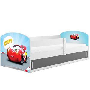 BMS Detská obrázková posteľ LUKI 1 / BIELA Obrázok: Auto vyobraziť