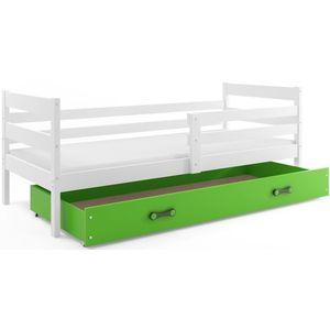 BMS Detská jednolôžková posteľ Eryk | BIELA Farba: biela / zelená, Rozmer.: 190 x 80 cm vyobraziť