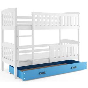 BMS Detská poschodová posteľ KUBUŠ / BIELA Farba: biela / modrá, Rozmer.: 190 x 80 cm vyobraziť