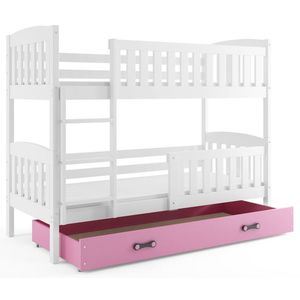 BMS Detská poschodová posteľ KUBUŠ / BIELA Farba: biela / ružová, Rozmer.: 190 x 80 cm vyobraziť
