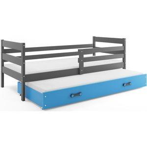 BMS Detská posteľ s prístelkou ERYK | SIVÁ Farba: Sivá / Modrá, Rozmer.: 190 x 80 cm vyobraziť