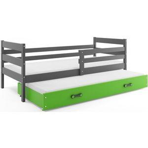 BMS Detská posteľ s prístelkou ERYK | SIVÁ Farba: Sivá / zelená, Rozmer.: 190 x 80 cm vyobraziť