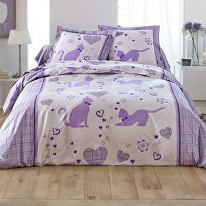 Posteľná bielizeň Catty, bavlna zn. lila obliečka na prikr. 240x220cm vyobraziť