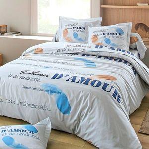Bavlnená posteľná bielizeň Grace modrá plachta 160x200cm vyobraziť