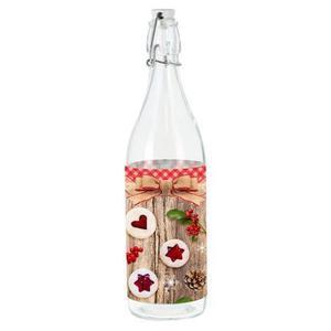 TORO Sklenená fľaša s patentným uzáverom TORO 1l linecké vyobraziť