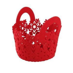 TORO Plstený košík TORO 15cm červený vyobraziť