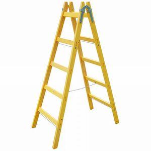 AGRODEAL Rebrík drevený - dvojdielny 10 priečok vyobraziť