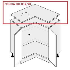 ArtExt Kuchynská skrinka spodná rohová, D12/90 Quantum Prevedenie: Polica do D12/90 vyobraziť