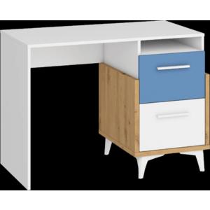 WIP Písací stôl HEY-03 105 Farba: Dub artisan/biela/modrá vyobraziť