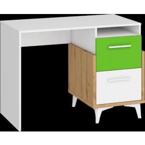 WIP Písací stôl HEY-03 105 Farba: Dub artisan/biela/fialová vyobraziť