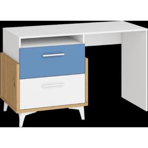WIP Písací stôl HEY-04 125 Farba: Dub artisan/biela/modrá vyobraziť