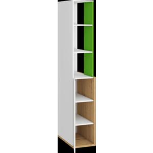 WIP Prídavná skrinka HEY-06 33 Farba: Dub artisan/biela/zelená vyobraziť
