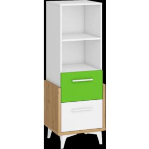 WIP Regál HEY-12 45N Farba: Dub artisan/biela/zelená vyobraziť