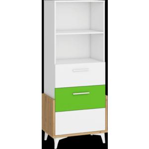 WIP Regál HEY-16 65S Farba: Dub artisan/biela/zelená vyobraziť