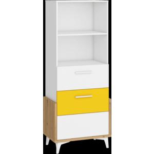WIP Regál HEY-16 65S Farba: Dub artisan/biela/žltá vyobraziť