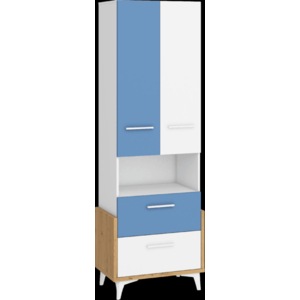 WIP Regál HEY-17 65W Farba: Dub artisan/biela/modrá vyobraziť