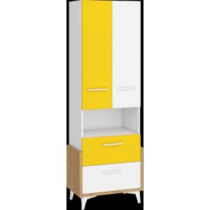 WIP Regál HEY-17 65W Farba: Dub artisan/biela/žltá vyobraziť