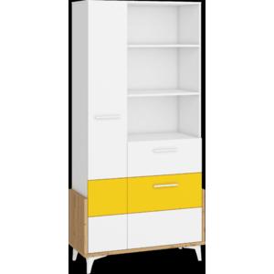 WIP Regál HEY-18 95W Farba: Dub artisan/biela/žltá vyobraziť