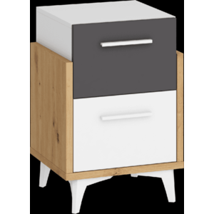 WIP Nočný stolík HEY-19 45 Farba: Dub artisan/biela/grafit vyobraziť