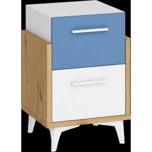 WIP Nočný stolík HEY-19 45 Farba: Dub artisan/biela/modrá vyobraziť