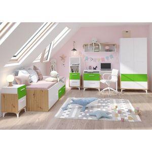 WIP Detská izba HEY 1 Farba: Dub artisan/biela/zelená vyobraziť
