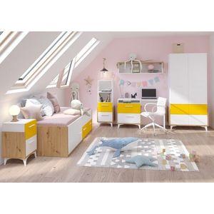 WIP Detská izba HEY 1 Farba: Dub artisan/biela/žltá vyobraziť
