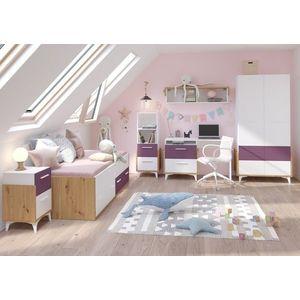WIP Detská izba HEY 1 Farba: Dub artisan/biela/fialová vyobraziť