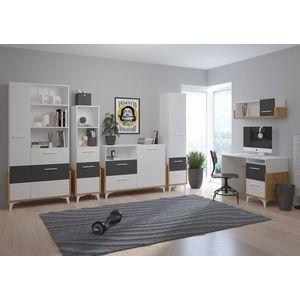 WIP Písací stôl HEY-03 105 Farba: Dub artisan/biela/žltá vyobraziť