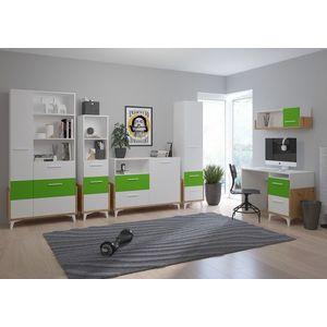 WIP Detská izba HEY 2 Farba: Dub artisan/biela/zelená vyobraziť