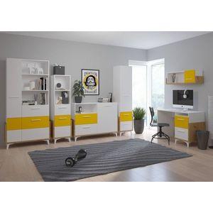 WIP Detská izba HEY 2 Farba: Dub artisan/biela/žltá vyobraziť