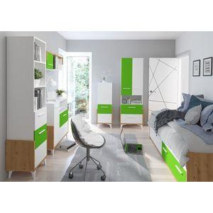 WIP Detská izba HEY 3 Farba: Dub artisan/biela/zelená vyobraziť