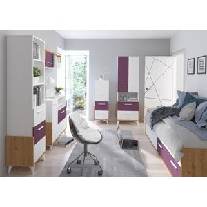 WIP Regál HEY-14 45W Farba: Dub artisan/biela/grafit vyobraziť