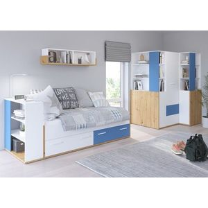 WIP Detská izba HEY 4 Farba: Dub artisan/biela/modrá vyobraziť