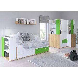 WIP Detská izba HEY 4 Farba: Dub artisan/biela/zelená vyobraziť