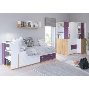 WIP Detská izba HEY 4 Farba: Dub artisan/biela/fialová vyobraziť