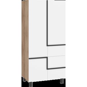 WIP Skriňa LARS-10 4D Farba: dub sonoma svetlá/biela vyobraziť