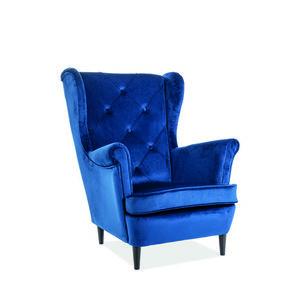Signal Kreslo LADY velvet Farba: Modrá vyobraziť