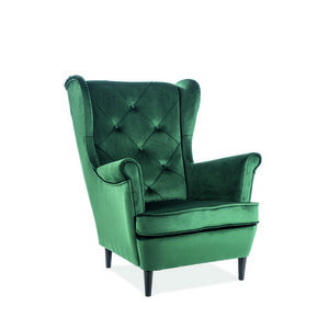 Signal Kreslo LADY velvet Farba: Zelená vyobraziť