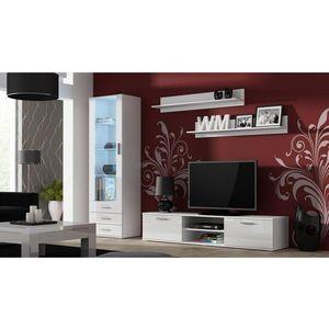 Artcam Obývacia stena Soho Farba: Biela/biely lesk vyobraziť