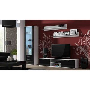 Artcam Obývacia stena Soho Farba: biela/čierny lesk vyobraziť