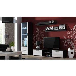 Artcam Obývacia stena Soho Farba: čierna/biely lesk vyobraziť