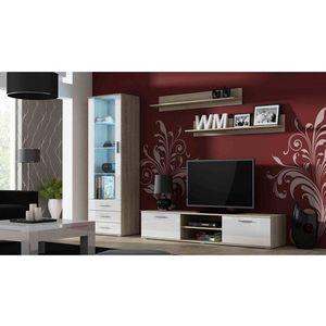 Artcam Obývacia stena Soho Farba: dub sonoma/biely lesk vyobraziť