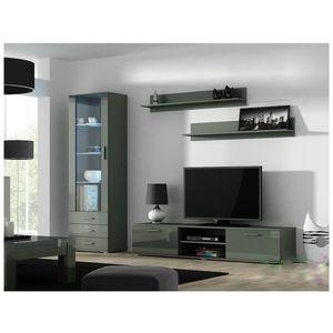 Artcam Obývacia stena Soho Farba: Sivá/sivý lesk vyobraziť